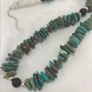 Jewelry - 🦋 Native American Turquoise & Lava  Necklace